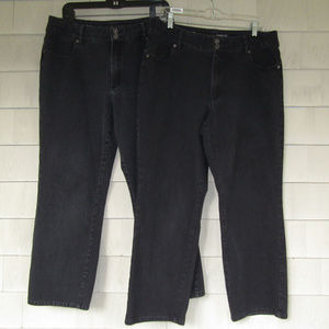 2 Jeans Coldwater Creek Classic Fit Straight Leg